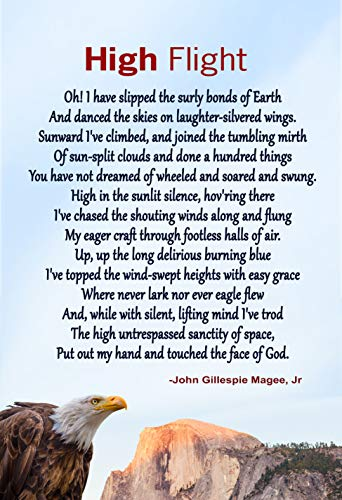 WeSellPhotos High Flight Poem Poster, Print, Picture or Framed Photograph by John Gillespie Magee Jr … (13x19 Unframed Poster)