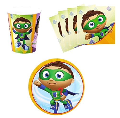 Super Why Birthday Party Supplies Set for 16