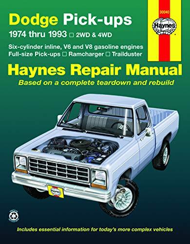 Dodge Ramcharger & Trailduster full-size pick-ups (1974-1993) Haynes Repair Manu
