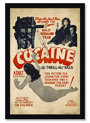 Vintage Cocaine Propaganda Poster - 12 x 18 Inches Unframed Print - Great Wall Decor Gift