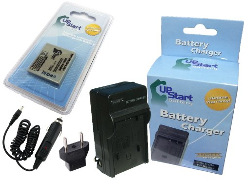 Replacement for Sanyo VPC-E1075 Battery and Charger with Car Plug and EU Adapter - Compatible with Sanyo NP-40 UF553436 Digital Camera Batteries and Chargers (750mAh 3.7V Lithium-Ion)