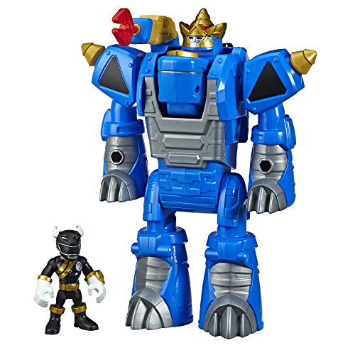 Playskool Heroes Power Rangers Morphin Zords Black Ranger and Rhino Zord 3-Inch Action Figures, Collectible Toys for Kids Ages 3 and Up