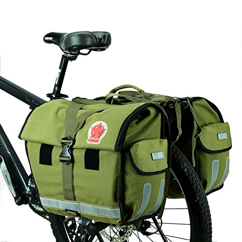ArcEnCiel Bike Bag Bicycle Panniers Water-Resistant Large Capacity Rack Trunks Rear Seat Carrier Pack - Rain Cover Included