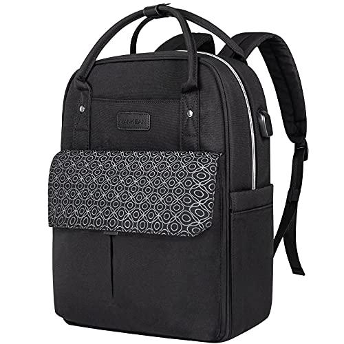VANKEANLaptop Backpack for Women / Men 15.6 Inch Waterproof Bag with USB Port