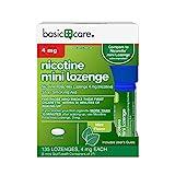 Basic Care Mini Nicotine Polacrilex Lozenge, 4 mg (nicotine), Stop Smoking Aid, Mint Flavor, 135 Count