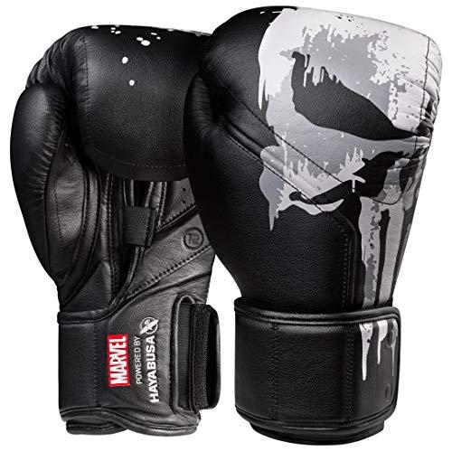 Hayabusa Marvel Hero Elite Boxing Gloves for Men and Women - The Punisher, 16 oz