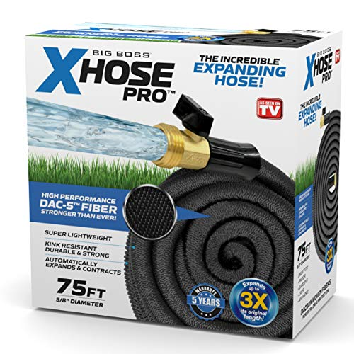 Xhose 1257 Dac-5 Garden Hose, 75', Black