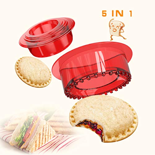 Yumkt Sandwich Cutter and Sealer Sandwich Maker Sandwich Decruster Sandwich for Kids Child Gifts,Red …