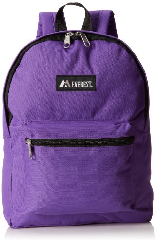 Everest Basic Backpack, Dark Purple, One Size