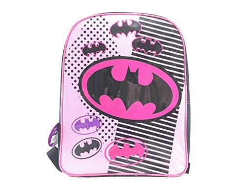 Batman Girls Light Pink Fashion 16 Backpack