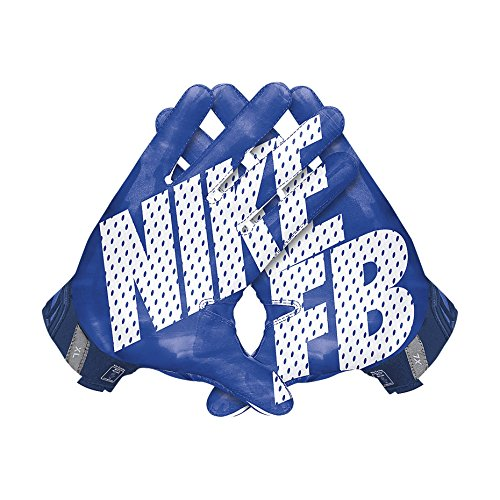 Nike Men's Vapor Jet 3.0 Football Gloves Game Royal/Gym Blue/Black/White Size Medium