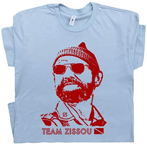 XXXL - Team Zissou T Shirt Scuba Diving Shirt Funny Vintage Movie Tee Nautical Intern Seafarer Dive Flag Graphic Blue