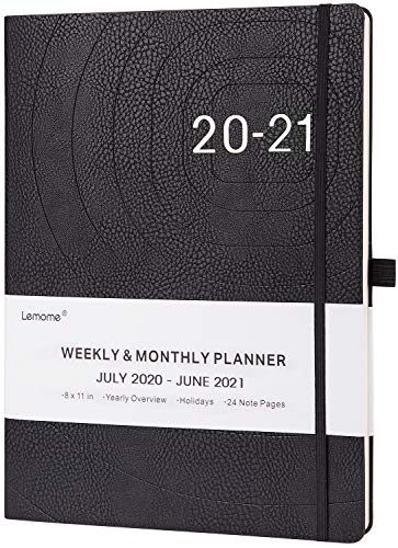2020-2021 Planner - Weekly, Monthly and Year Planner with Pen Loop, to Achieve Your Goals & Improve Productivity, Jul 2020 - Jun 2021, Thick Paper, Inner Pocket, 8.5' x 11', Black