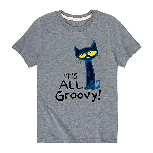 Pete The Cat It's All Groovy - Youth Short Sleeve Graphic T-Shirt Athletic Heather