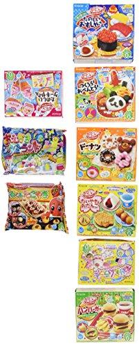 Kracie Popin Cookin 9 Item Bundle with Sushi, Hamburger, Bento, Cake Shop and More