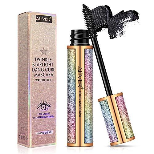 4D Silk Fiber Lash Mascara,Natural Waterproof Smudge-proof Mascara,Natural Thickening Lengthening Mascara No Clumping, No Smudging Lasting All Day
