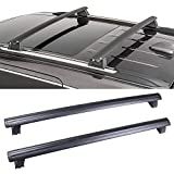 LUJUNTEC Aluminum Roof Mounted Roof Rack Cross Bar Set Fit for 2011-2019 Jeep Grand Cherokee Sport Utility 4-Door 3.0L 3.6L 5.7L 6.2L Top Rail Carries Luggage Carrier