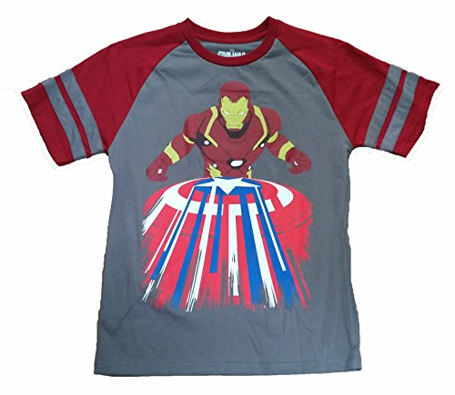 Marvel Comics Captain America Civil War Striped Shield Graphic T-Shirt - 2XL