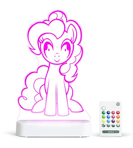 Pinkie Pie My Little Pony StarLight -Color Change 12 Color Pattern LED Decorative Night Light for Kids with Remote
