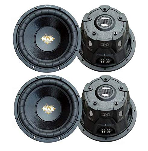 LANZAR PRO MAXP84 8' 3200W Car Audio Subs SVC 4 Ohm Power Subwoofers (4 Pack)