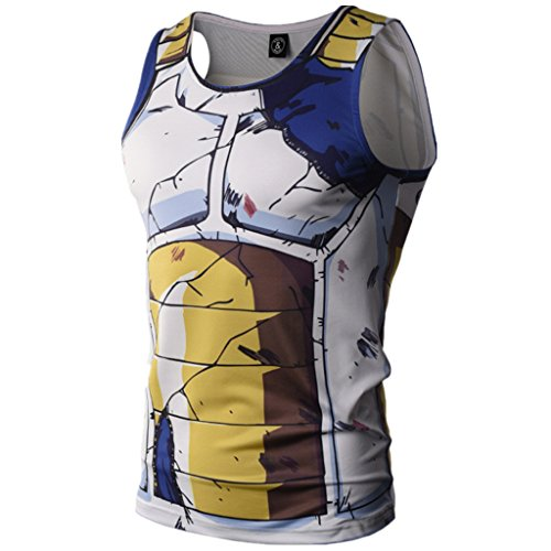 Men's Compression Tank Top Muscle T-Shirt 3D Cartoon Gym Sleeveless Vest