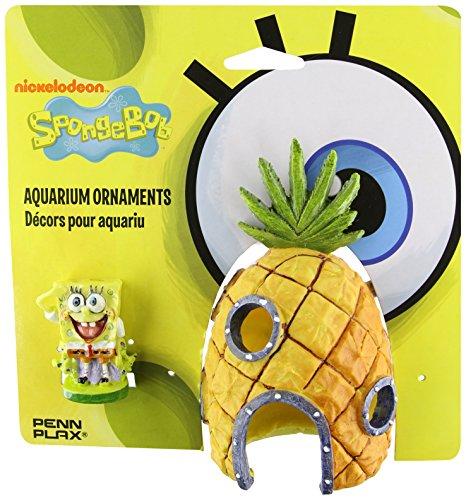 Penn Plax 07074 SpongeBob and Pineapple House Aquarium Ornament