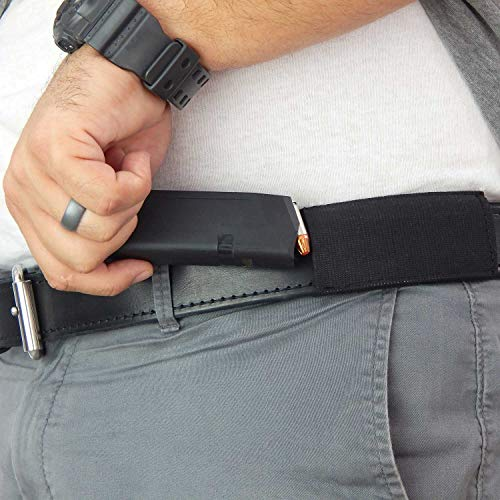 Active Pro Gear Ultimate Magazine Carrier for Concealed Carry | Elastic Magazine Carrier | Horizontal Extra Magazine Belt Carrier