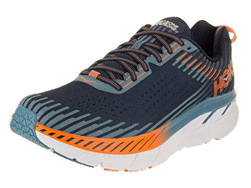 HOKA ONE ONE Men's Clifton 5 Running Shoe Black Iris/Storm Blue 9.5