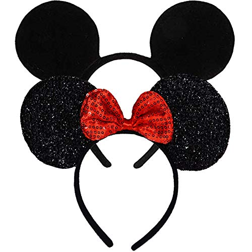Mouse Ears, FANXIER  2 Pcs Mice Ears Headbands Hair Band for Children Mom Baby Boys Girls Birthday Party