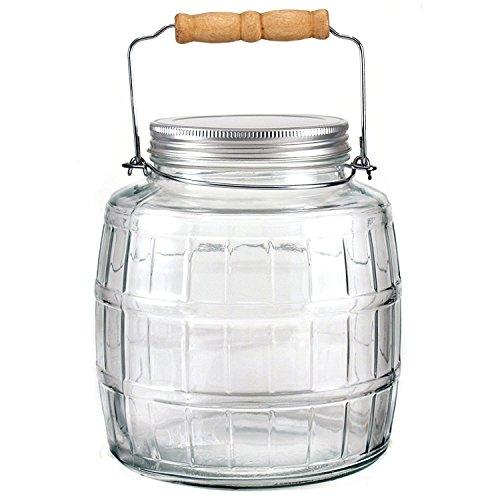 Anchor Hocking 1 Gallon Brushed Aluminum Lid Barrel Jar