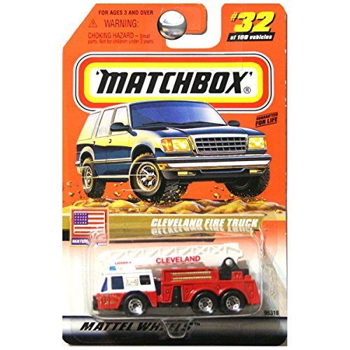 Matchbox 1999 USA Cleveland Fire Truck #32 of 100