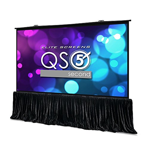 Elite Screens QuickStand 5-Second Series, 150-INCH 16:9, Manual Pull Up Projector Screen, Movie Home Theater 8K / 4K Ultra HD 3D Ready, 2-YEAR WARRANTY, QS150HD