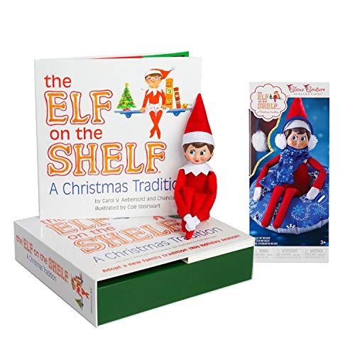The Elf on the Shelf: A Christmas Tradition Girl Scout Elf (Blue Eyed) with Claus Couture Collection Totally Tubular Snow Set