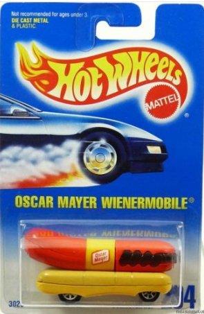 Hot Wheels Oscar Mayer Wienermobile with 7 Spoke Wheels #204