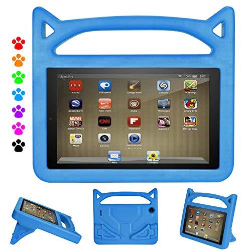 iPad Mini 4 Kids Case - Ubearkk Light Weight Shock Proof Handle Friendly Kid Proof Stand Kids Case for iPad Mini, Mini 5, Mini 4, iPad Mini 3rd Generation, iPad Mini 2 Tablet - Blue