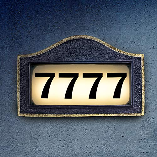 Solar House Number Plaque, Address Signs for Houses, Bright Backlit LED Lights Can Illuminate The Entire Night