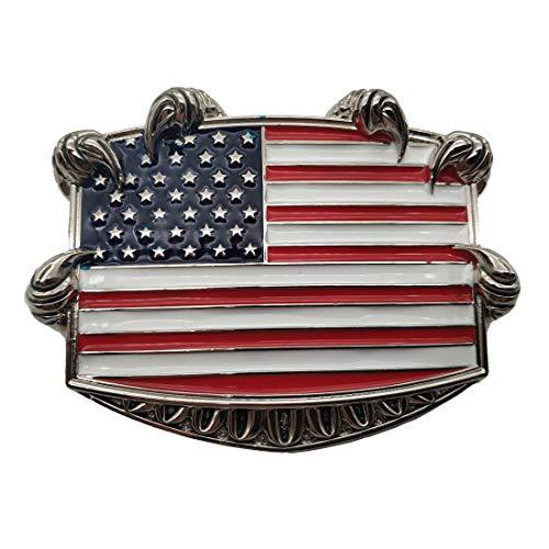 American Flag Eagle Claw Belt Buckle Seizing Freedom Talon Buckle