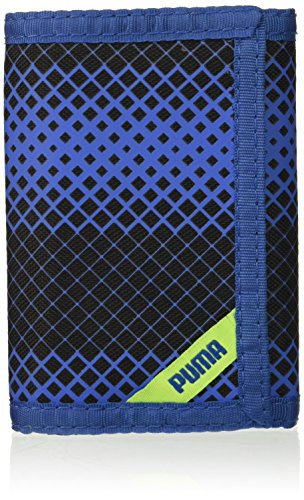 PUMA Little Kids' Rise Trifold Wallet, blue/yellow, One Size
