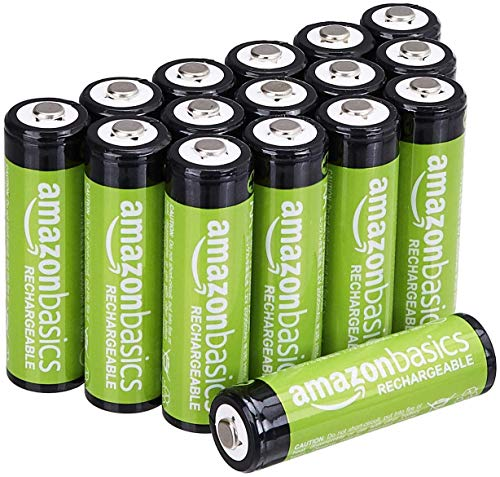 Amazon Basics 16-Pack AA Performance 2,000 mAh Rechargeable Batteries, Pre-Charged, Recharge up to 1000x