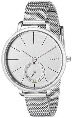 Skagen Women's Hagen Stainless Steel Mesh Watch, Color: Silver, 12 (Model: SKW2358)