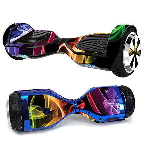 MightySkins Skin Compatible with Hover-1 H1 Hoverboard Scooter - Bright Smoke | Protective, Durable, and Unique Vinyl Decal wrap Cover | Easy to Apply, Remove, and Change Styles | Made in The USA