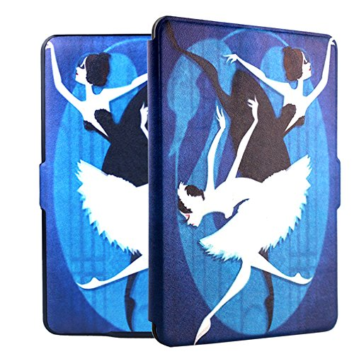 Ropada Case for Kindle Paperwhite Ereader 6'' PU Leather Smart Cover Ballet Dancer Kindle Paper White Covers (Ballet)(Not for All New Kindle Paperwhite 2018)