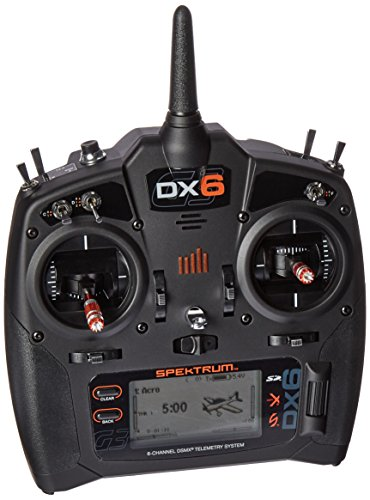 Spektrum DX6 6-Channel 2.4GHz DSMX RC Radio Transmitter Only, SPMR6750, Black, 14 Years and up