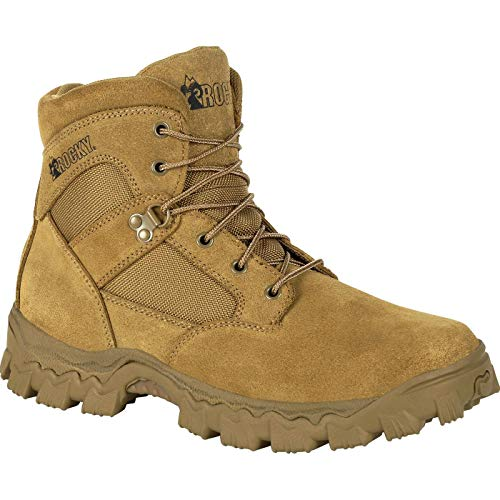 Rocky Alpha Force 6 Inch Duty Boot Size 10(M) Coyote Brown