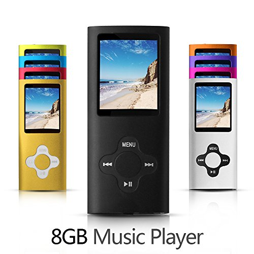 G.G.Martinsen 8GB Versatile MP3/MP4 Player with Photo Viewer, Mini USB Port Slim 1.78 LCD, Digital MP3 Player, MP4 Player, Video Player, Music Player, Media Player-Black