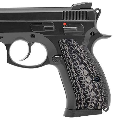 Guuun G10 CZ Compact Grips OPS Mechanical Texture CZ 75 P-01 Grips - Gray/Black