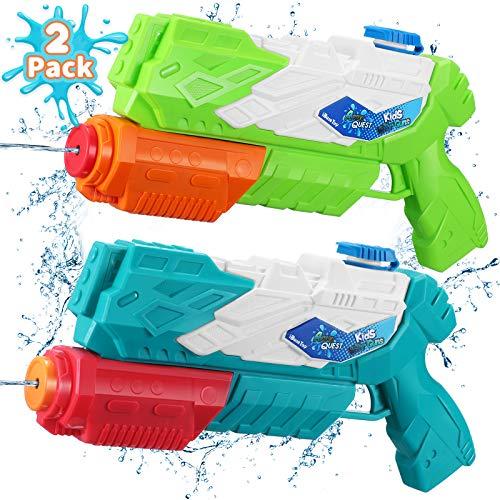 Water Guns for Kids Toddlers 2 Pack Super Squirt Guns 30 Ft Long Range 600CC Pump Action Water Blaster Soaker Gun for Boys Girls Pool Beach Yard Park Outdoor Water Toys
