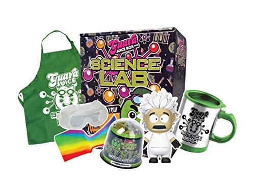 Studio71 Guava Juice Science Lab Box - Fun & Innovative Science Experiment Toy with Crystal Growing Kit, Slime, and Collectible Science Figure.