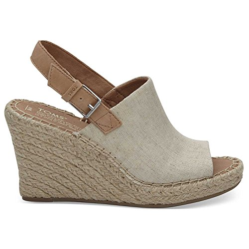 TOMS Natural Oxford Women's Monica Wedges (Size: 7)