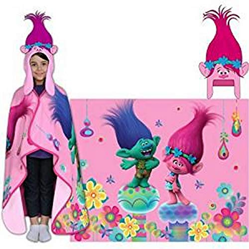 Hoodiwinks Trolls Poppy Cozy Hat & Throw Wrap Set